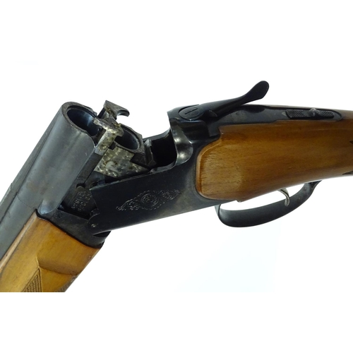 Shotgun: A Baikal 'MP233A' 12 bore over and under ejector
