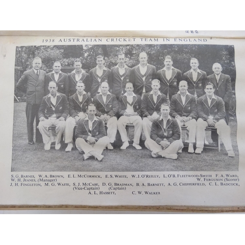 31 - Book: ''John Wisden's Cricketeers' Almanack 1939 '' 76th Edition , edited by Wilfrid H Brookes, with...