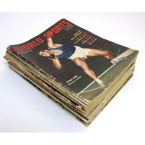 32 - World Sports Magazines: A quantity of World Sport magazines to include issues: September 1959, Septe...