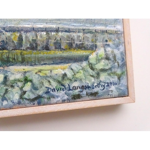 10 - David Langsworthy 2010 Cornish School, Oil on canvas, 'Ripple', fishing boat Newlyn Harbour , Signed...