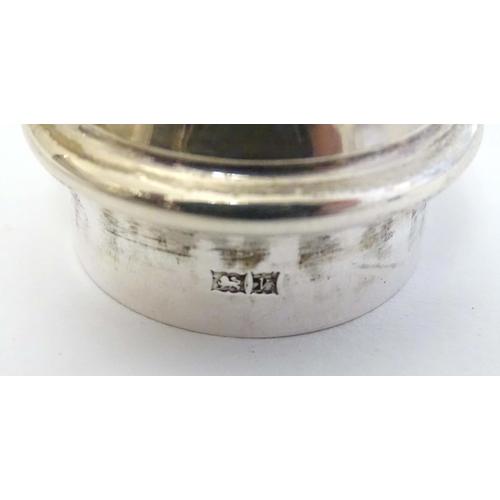 21 - A silver sugar caster hallmarked Birmingham 1970 maker Barker Ellis Silver Co. 6 3/4'' high (122g)...