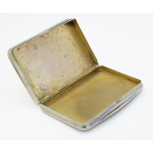 46 - A white metal box with enamel horse head decoration to top. 3''x 2'' x 3/8''...