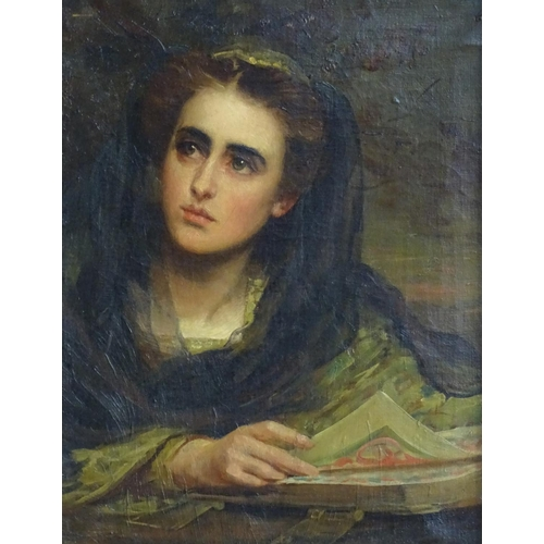 11 - Hare, XIX-XX, Oil on canvas, Portrait of a lady, Ascribed 'Hare' to canvas verso. 18 x 14''?...
