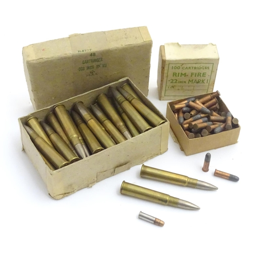 Shooting: A box of MOD-issue, WWII-era  303 centrefire bullets, the