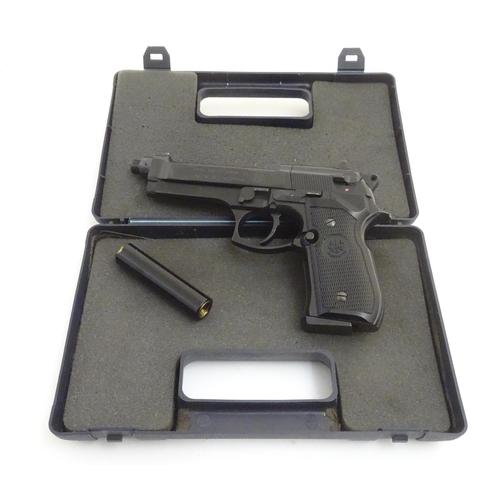 Airgun: a cased '92 FS'  177/4 5mm BB Co2 air pistol by Beretta