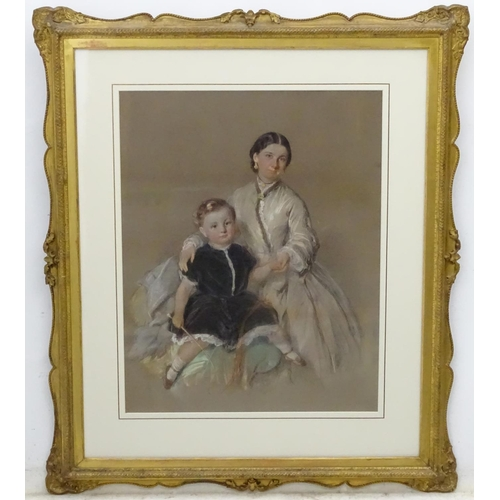 2 - I Gilbert 1864, Pastel, Portrait of Alfred Wolrych (1861-c.1947) & Louisa Agnes,  Signed lower right...