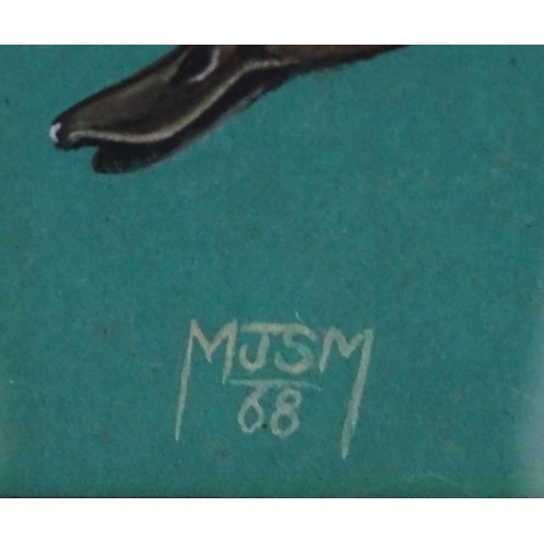 34 - MJSM 68 Ornithological School, Gouache, ' Common Shoveler , Ducks Of Rhodesia ', Signed lower left a...