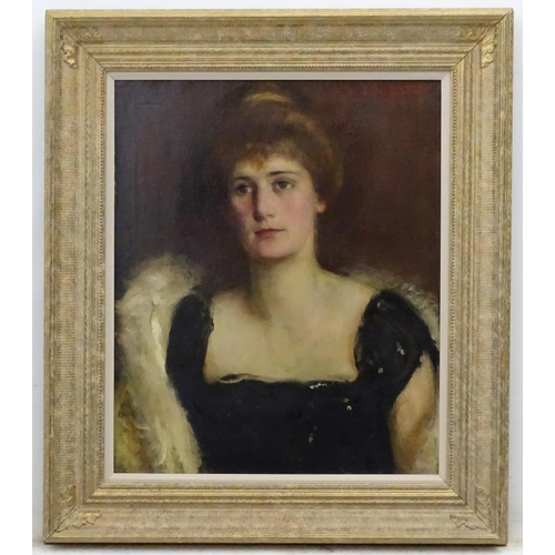 4 - Walter Ernest Webster (1878-1959), Oil on canvas, Portrait of a lady in ball dress, Signed top right...