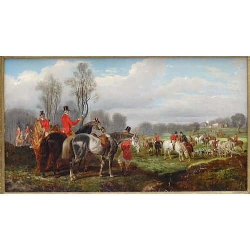 40 - Attrib.  John Fernley I (1782-1860)English Equine School Oil on canvas The regathering of the hunt, ...