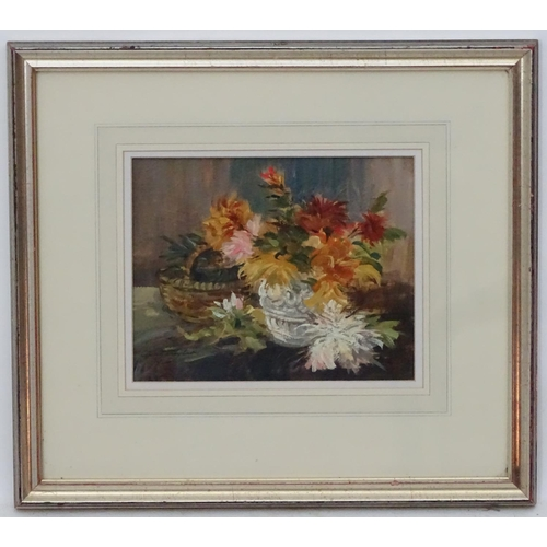 49 - Ivan Taylor (1946), Oil on board,  'Flower in baskets',   Signed lower left and labelled verso plus ...