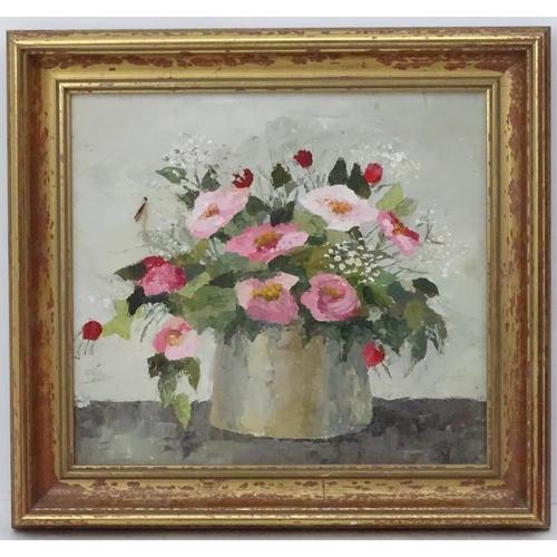 53 - Jean Scott Tongue, XX, Oil on artist's board, Still life of flowers in a vase, Bears artist's mark l...