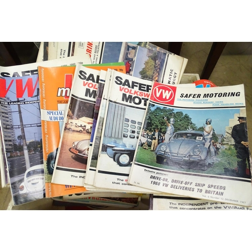 16 - A quantity of vintage 1960s and later Voltswagon motoring magazines, to include Safer Motoring...