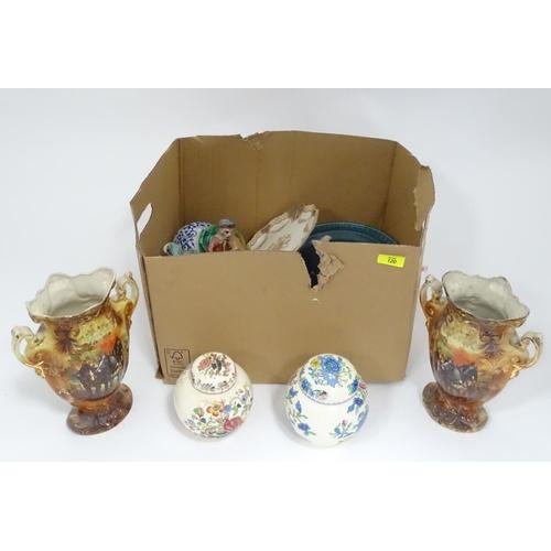 17 - A box of assorted ceramics...