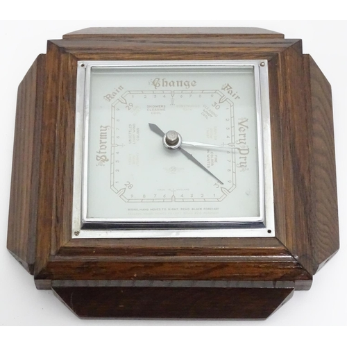 22 - A mid 20thC barometer...