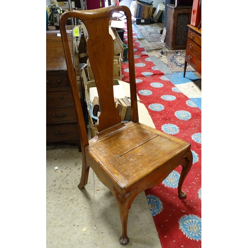 4 - A large late 19thC mahogany side chair...