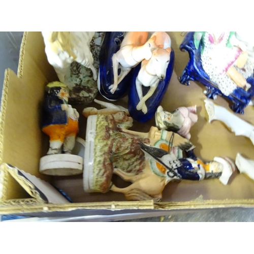 46 - A quantity of Staffordshire pottery figures...