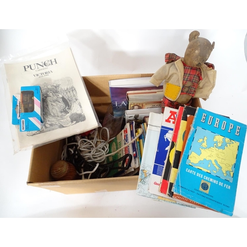 48 - A quantity of miscellaneous to include maps, glass, books, etc....