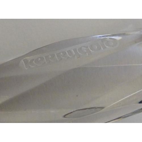 410 - Galway Irish Crystal: A boxed Irish cheese knife, marked 'Kerrygold Irish Crystal', 9 1/2'' long....