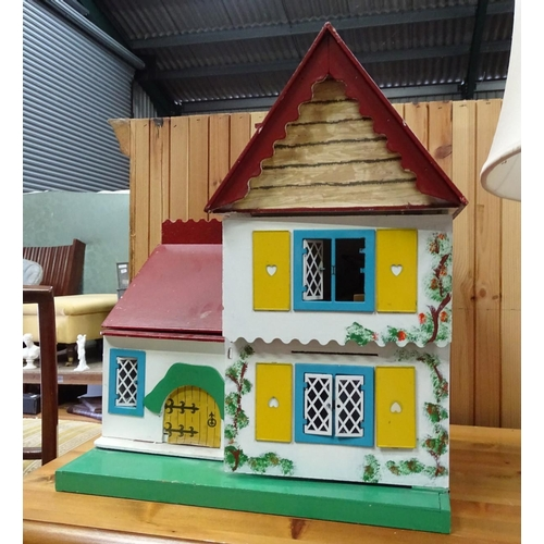 16 - Dolls house and furniture...