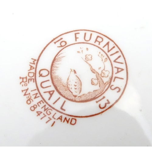 22 - Two game / shooting plates comprising a Royal Copenhagen 1977 Immervad Bridge plate and a Furnivals ...