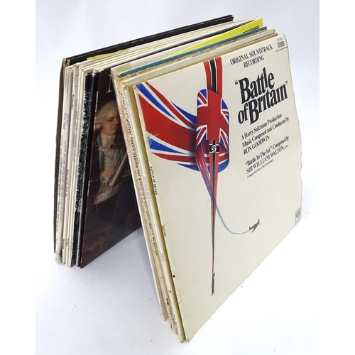 41 - A quantity of vinyl LPs to include soundtrack recordings for the battle of Britain, king and i, sout...
