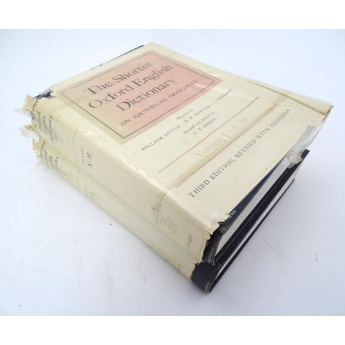 53 - Books: 'The Shorter Oxford English Dictionary on Historical Principles' volumes 1 (A-M) & 2 (N-Z), p...