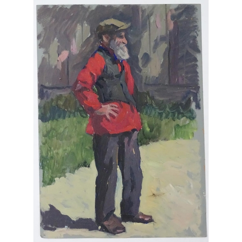 24 - Alexander Mikhailovich Gegunov, 1980, Ukrainian / Russian School,  Oil on artist's board, 'Man in a ...