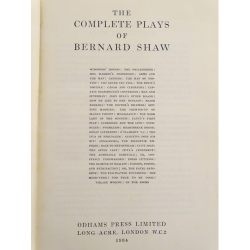 1283 - Book: The Complete Plays of Bernard Shaw, published by Odhams Press Limited, London, 1934...