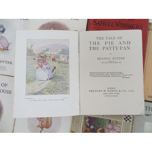 1285 - Book: A quantity of books by Beatrix Potter. Titles comprising The Tale of Benjamin Bunny, F.Warne &...