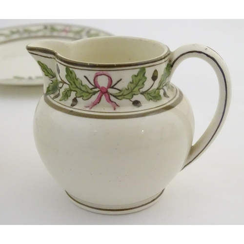 30 - Wedgwood teawares in the pattern Etruria manufactured for James Powell & Sons. Comprising a teapot, ...