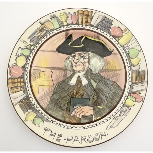 28 - Four Royal Doulton plates from the Professionals series, to include The Mayor, The Parson, The Admir...
