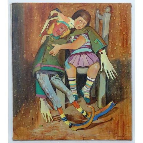 25 - Irina Stolyarova, 2006, Ukrainian / Russian School,  Oil on canvas,  A portrait of a young girl on a...