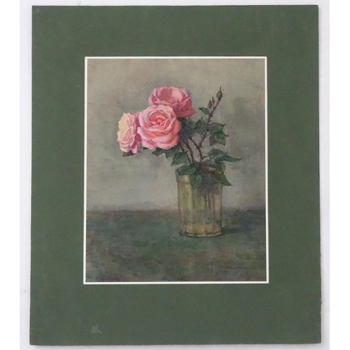 41 - Viktor Andreevich Gertsenok (1934-2017), Ukrainian / Russian School,  Watercolour on paper,  'Roses ...