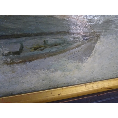 58 - Initialled MSP, XIX-XX, Scottish School,  Oil on canvas,  A country landscape scene, a path through ...