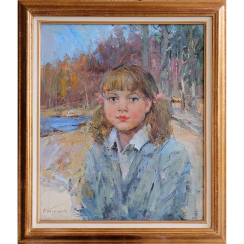 32 - Nikolai Nikolaievitch Baskakov (1918-1993), Russian School, Oil on canvas, Walking in the forest, A ...