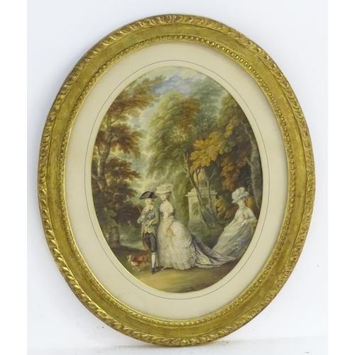 2 - R. H. Mason, After Thomas Gainsborough (1727 - 1788), XIX, Watercolour and gouache, an oval, Henry, ...