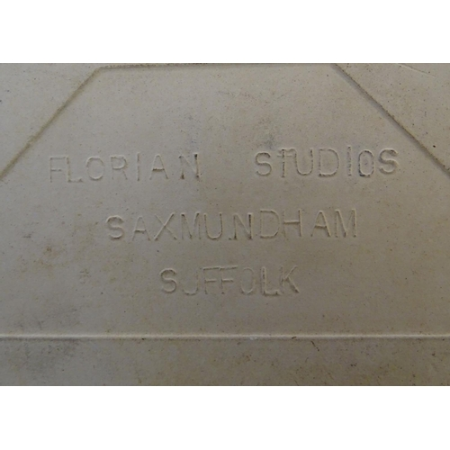 43 - Two Florian Studio tiles decorated with Edward Lear limericks and illustrations, to include 'There w...