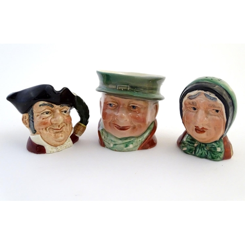 29 - A Beswick character sugar bowl / pot modelled as the Charles Dickens' character Tony Weller, model n...