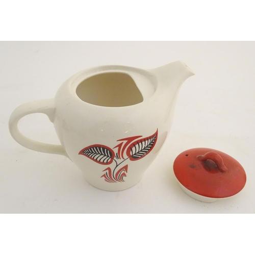 55 - A quantity of vintage retro Wade tea wares, to include teapot, milk jug, sugar bowl, various cups, s...