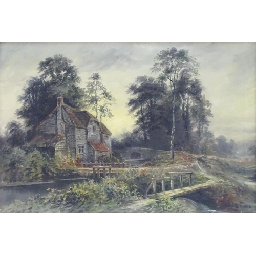 1231 - George Willis Pryce (1866-1949), English School, Oil on canvas, A country landscape scene with a mil...