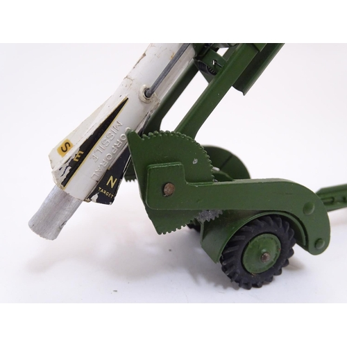 739 - Toy: A Dinky Supertoys die cast scale model Missile Erector Vehicle with corporal missile and launch...