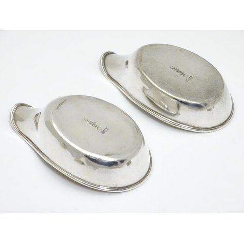396 - A pair of silver plate pap boats approx. 4 1/4
