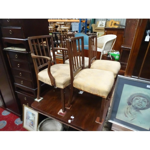 8 - Four Georgian dining chairs. Each approx. 34 1/2