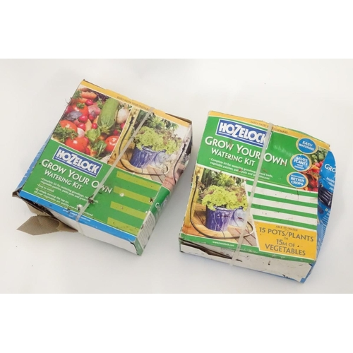 19 - Two Hozelock 'Grow your Own' watering kits...