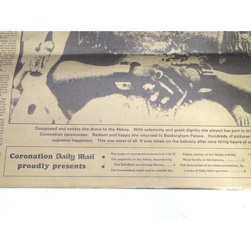 48 - Royal memorabilia : Reproduction -  Special gold edition of daily mail for the 1953 Coronation...