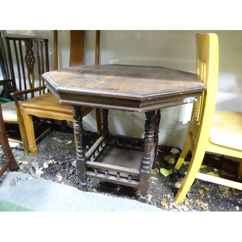 50 - An Edwardian octagonal side table. Approx. 29 3/4