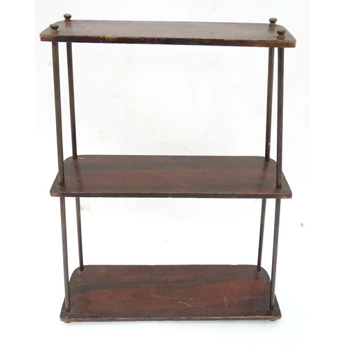 60 - A small 3 tier shelf. Approx. 23 1/2