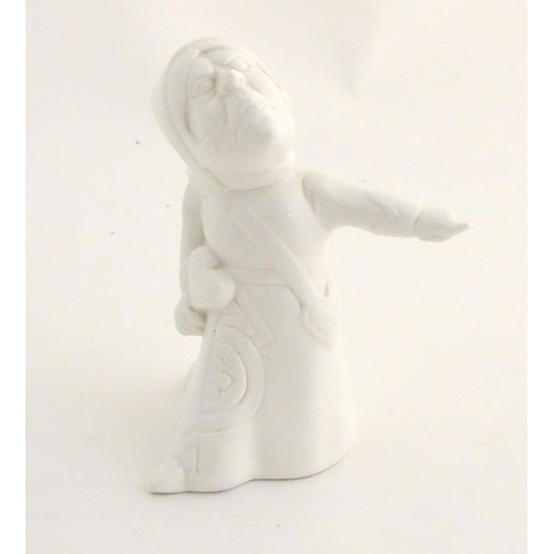 138 - A ceramic figure of the Queen of Hearts from Lewis Carroll's Alice in Wonderland. Approx. 5 1/2