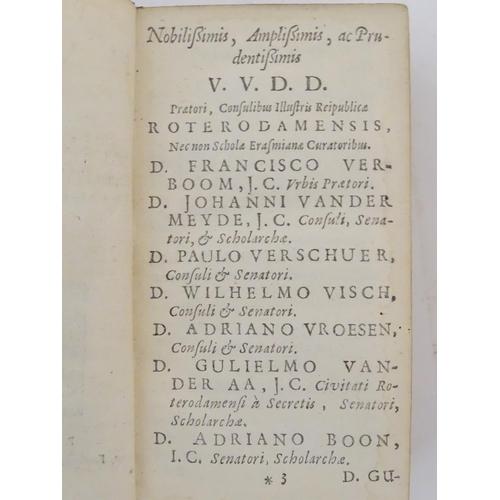 703 - Book: Valerius Maximus, Dictorum Factorumque Memorabilium, by Johnannis Minellii, pub. in Latin by A...