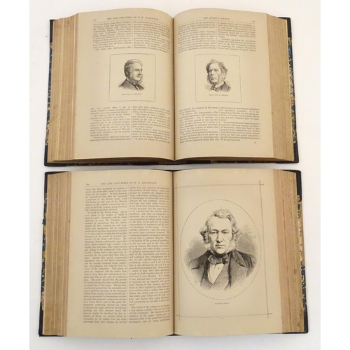 722 - Books: The Life and Times of William Ewart Gladstone, by J. Ewing Ritchie, pub James Sangster & Co, ...
